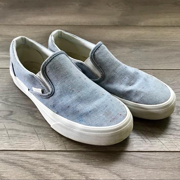 71c93f12e4f6fe Vans Slip-On Speckle Jersey Blue Shoes. M 5b907e62baebf6ef1ef70396
